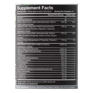 Intra Keto Supp Facts