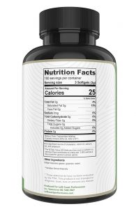 MCT Oil Softgels Nutrition Facts